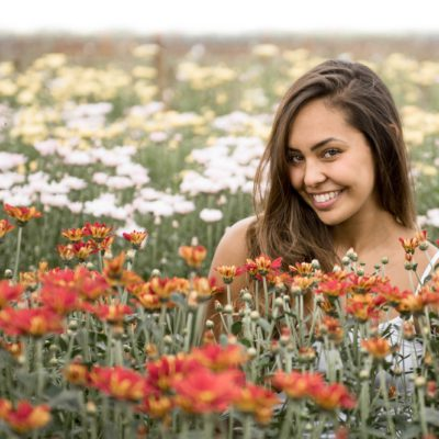 Ensaio fotográfico nos campos de flores de Holambra